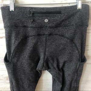 LULULEMON Full Length Knit Ruched Leggings Sz 8